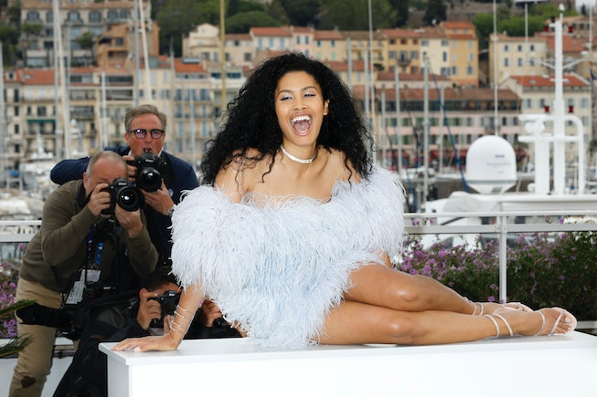 CANNES, FRANCE - MAY 19: (EDITORS NOTE: Image has been digitally retouched) Leyna Bloom attends the ...
