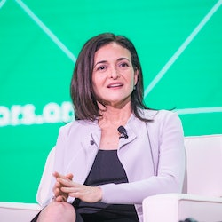 BOSTON, MA - JUNE 08:  Facebook COO Sheryl Sandberg speaks at the U.S. Conference of Mayors about ho...