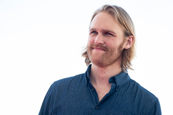 Actor Wyatt Russell at the photocall of Overlord during the 51 edition of Festival Internacional de Cinema Fantastic de Catalunya Sitges 2018 in Sitges , Barcelona on 11 October 2018 (Photo by Peter Sabok/COOLMEDIA/NurPhoto via Getty Images)