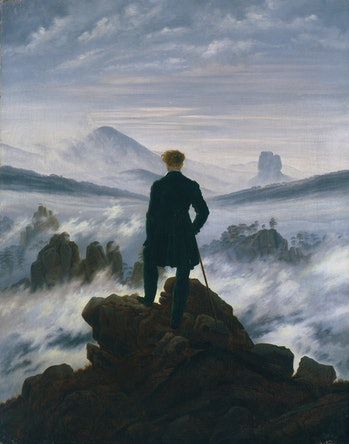 Wanderer above the Sea of Fog, circa 1817. Found in the Collection of Kunsthalle, Hamburg. Artist Friedrich, Caspar David (1774-1840). (Photo by Fine Art Images/Heritage Images via Getty Images)
