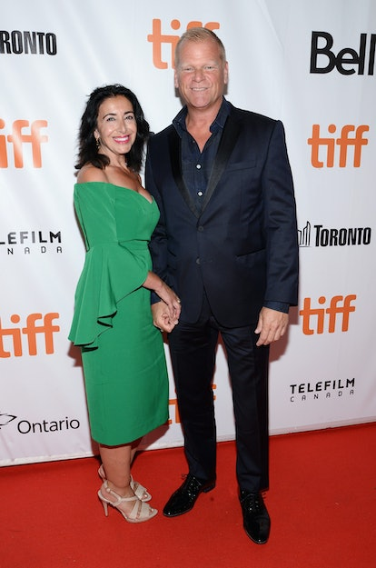 TORONTO, ON - SEPTEMBER 13:  Mike Holmes (R) and Anna Zapia attend the 'Long Time Running' premiere during the 2017 Toronto International Film Festival at Roy Thomson Hall on September 13, 2017 in Toronto, Canada.  (Photo by Tara Ziemba/WireImage)