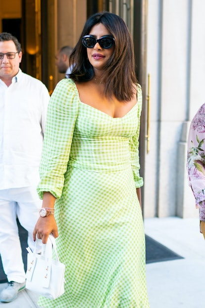 NEW YORK, NEW YORK - AUGUST 30: Priyanka Chopra is seen in Tribeca on August 30, 2019 in New York City. (Photo by Gotham/GC Images)