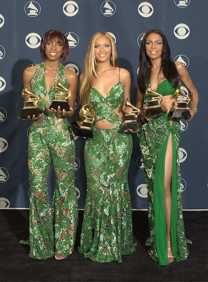 385806 18: Destiny's Child poses backstage with their awards at the 43rd annual Grammy Awards February 21, 2001 at Staples Center in Los Angeles, CA. The group won an award for Best R&B Performance by a Duo or Group. (Photo by David McNew/Newsmakers)
