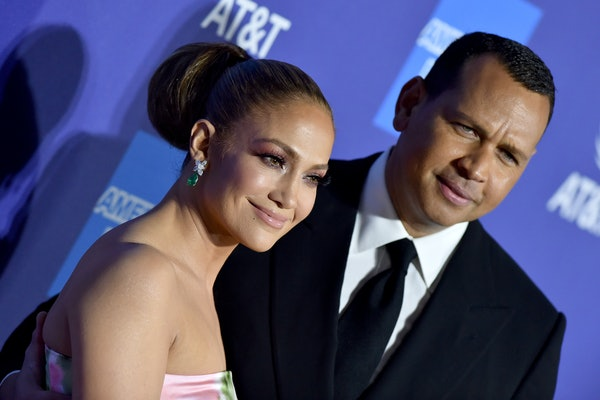 PALM SPRINGS, CALIFORNIA - JANUARY 02: Jennifer Lopez and Alex Rodriguez attend the 2020 Annual Palm Springs International Film Festival Film Awards Gala on January 02, 2020 in Palm Springs, California. (Photo by Axelle/Bauer-Griffin/FilmMagic)