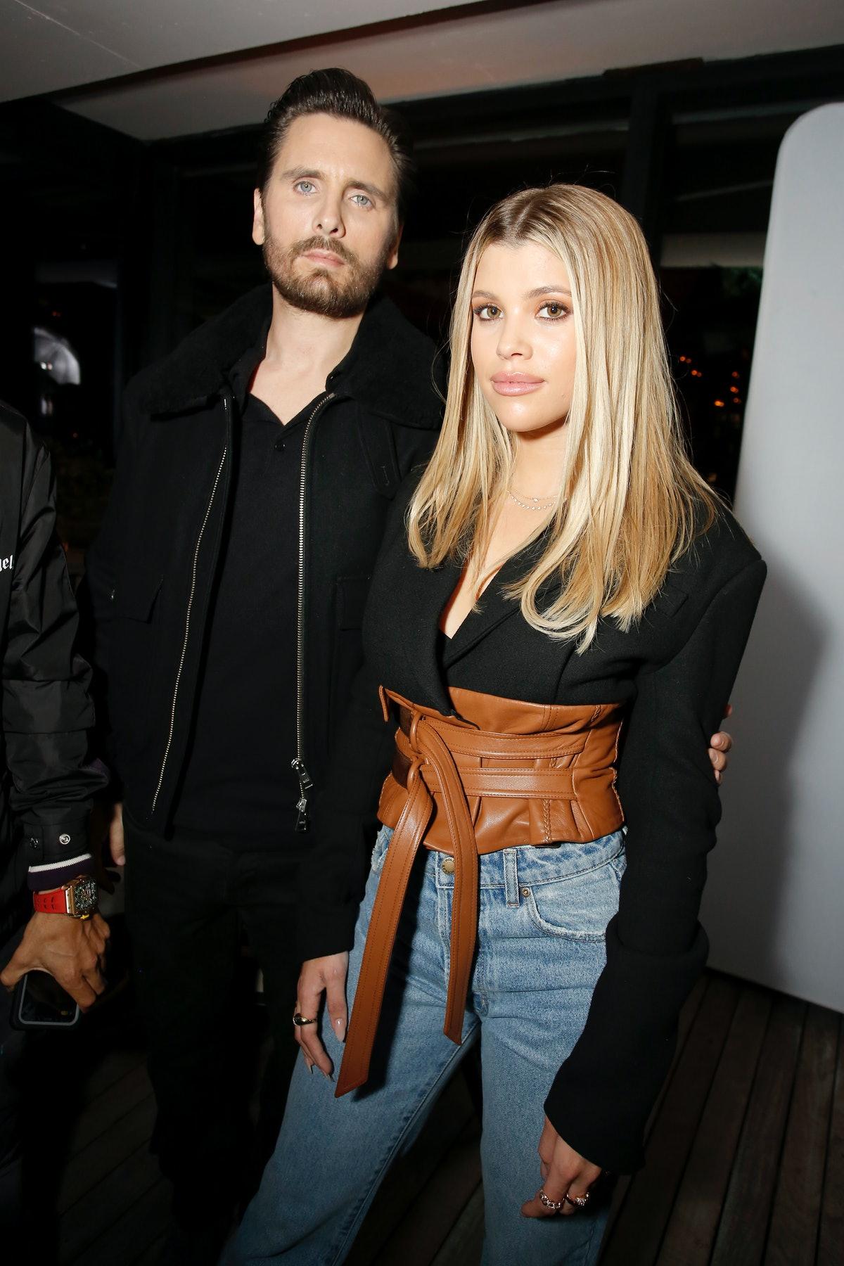 WEST HOLLYWOOD, CALIFORNIA - FEBRUARY 20: (L-R) Scott Disick and Sofia Richie attend Rolla's x Sofia Richie Launch Event at Harriet's Rooftop on February 20, 2020 in West Hollywood, California. (Photo by Rachel Murray/Getty Images for Rolla's)
