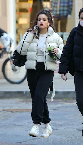 NEW YORK, NY - JANUARY 19: Rosalia is seen on January 19, 2021 in New York City.  (Photo by Jose Per...