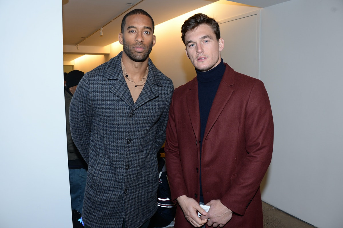 NEW YORK, NY - FEBRUARY 9: Matt James and Tyler Cameron attend The Blonds A/W 20 Fashion Show on February 9, 2020 at Spring Studios in New York City. (Photo by Paul Bruinooge/Patrick McMullan via Getty Images)