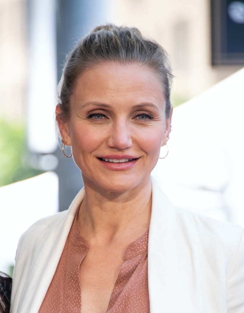 Actress Cameron Diaz attends Lucy Liu's Walk of Fame ceremony in Hollywood on May 1, 2019. - Lucy Liu's star is the 2,662nd star on the Hollywood Walk Of Fame in the Category of Television. (Photo by VALERIE MACON / AFP)        (Photo credit should read VALERIE MACON/AFP via Getty Images)