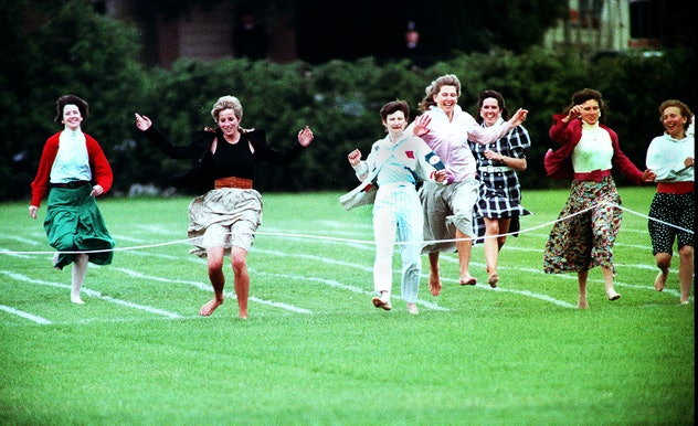 Princess Diana always took part in her sons' sports days.