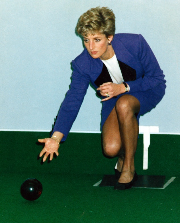 Princess Diana was apparently always up for bowling.