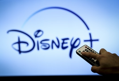 ANKARA, TURKEY - JULY 09: In this photo illustration, the logo of Disney+ is displayed on a television screen and a remote control device is seen in Ankara, Turkey on July 09, 2020. (Photo by Hakan Nural/Anadolu Agency via Getty Images)