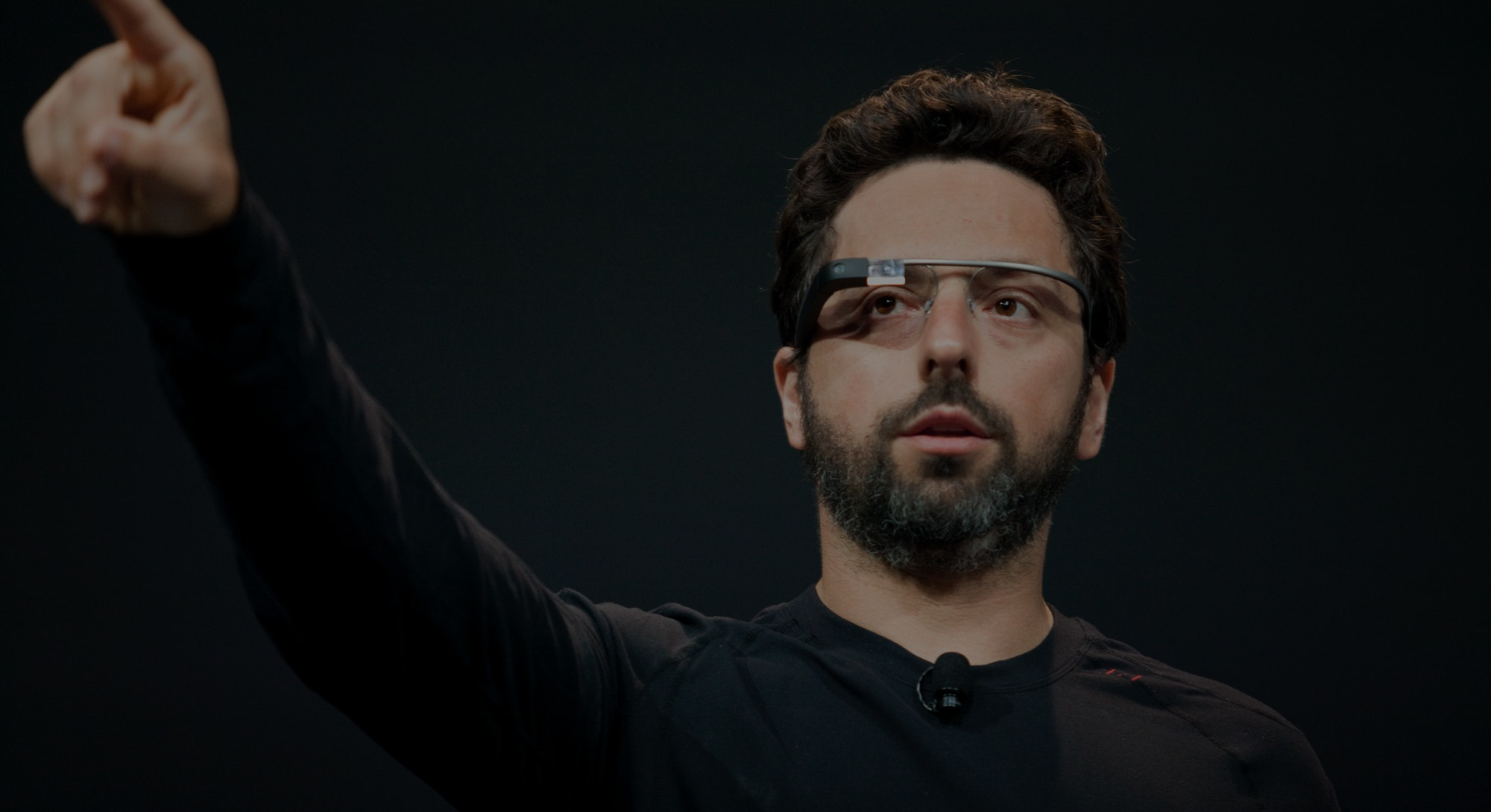Google co-founder Sergey Brin demonstrates Project Glass, a wearable personal computer device, during the keynote speech at the Google I/O Developer Conference in San Francisco, California. (Photo by Kim Kulish/Corbis via Getty Images)