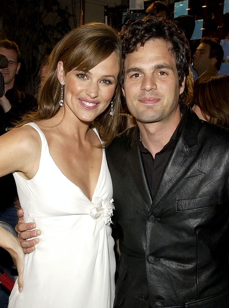 """Jennifer Garner and Mark Ruffalo during """"13 Going on 30"""" Premiere - Red Carpet at Mann's Theatre in Westwood, CA, United States. (Photo by M. Caulfield/WireImage)"""