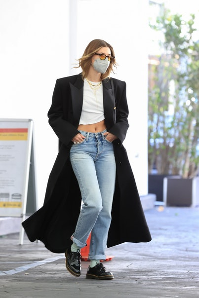 LOS ANGELES, CA - MARCH 9: Hailey Bieber is seen on March 9, 2021 in Los Angeles, California. (Photo by Rachpoot/MEGA/GC Images)