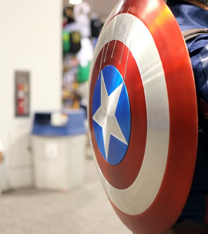 View of a Captain America cosplayer's shield during WonderCon 2018 at Anaheim Convention Center on March 23, 2018 in Anaheim, California.  (Photo by Angela Papuga/Getty Images)