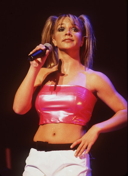 380633 04: FILE PHOTO Singer Britney Spears performs July 31, 1999 at the Universal Ampitheater in U...