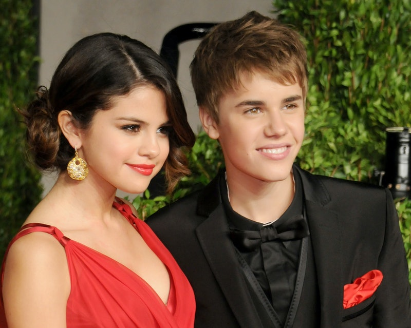 WEST HOLLYWOOD, CA - FEBRUARY 27: Actress Selena Gomez and Justin Bieber arrive at the Vanity Fair O...