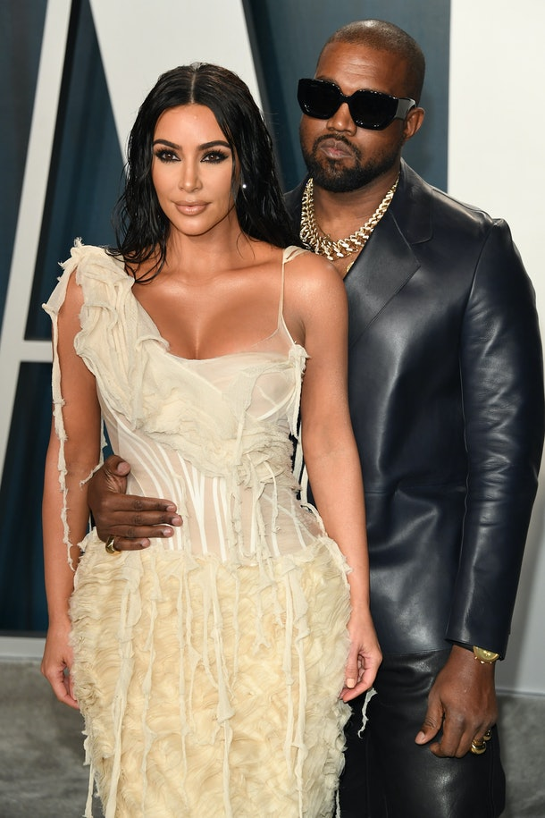BEVERLY HILLS, CALIFORNIA - FEBRUARY 09: Kim Kardashian and Kanye West attend the 2020 Vanity Fair Oscar party hosted by Radhika Jones at Wallis Annenberg Center for the Performing Arts on February 09, 2020 in Beverly Hills, California. (Photo by Daniele Venturelli/WireImage,)
