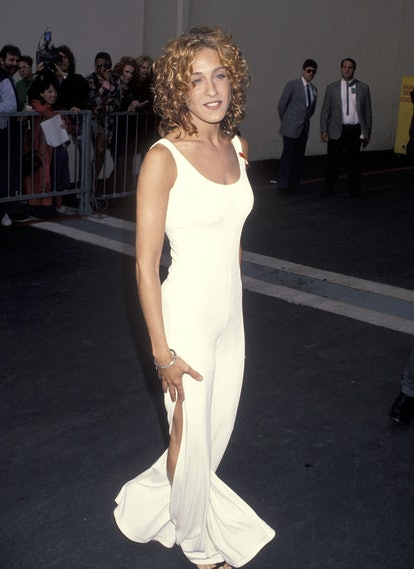 BURBANK, CA - JUNE 5:   Actress Sarah Jessica Parker attends the Second Annual MTV Movie Awards on June 5, 1993 at Walt Disney Studios in Burbank, California. (Photo by Ron Galella, Ltd./Ron Galella Collection via Getty Images)