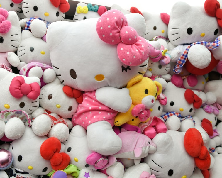 14 November 2019, Berlin: The Hello Kitty Box with numerous plush figures at the party for Hello Kitty's 45th birthday in the Mall of Berlin. Photo: Jens Kalaene/dpa-Zentralbild/ZB (Photo by Jens Kalaene/picture alliance via Getty Images)