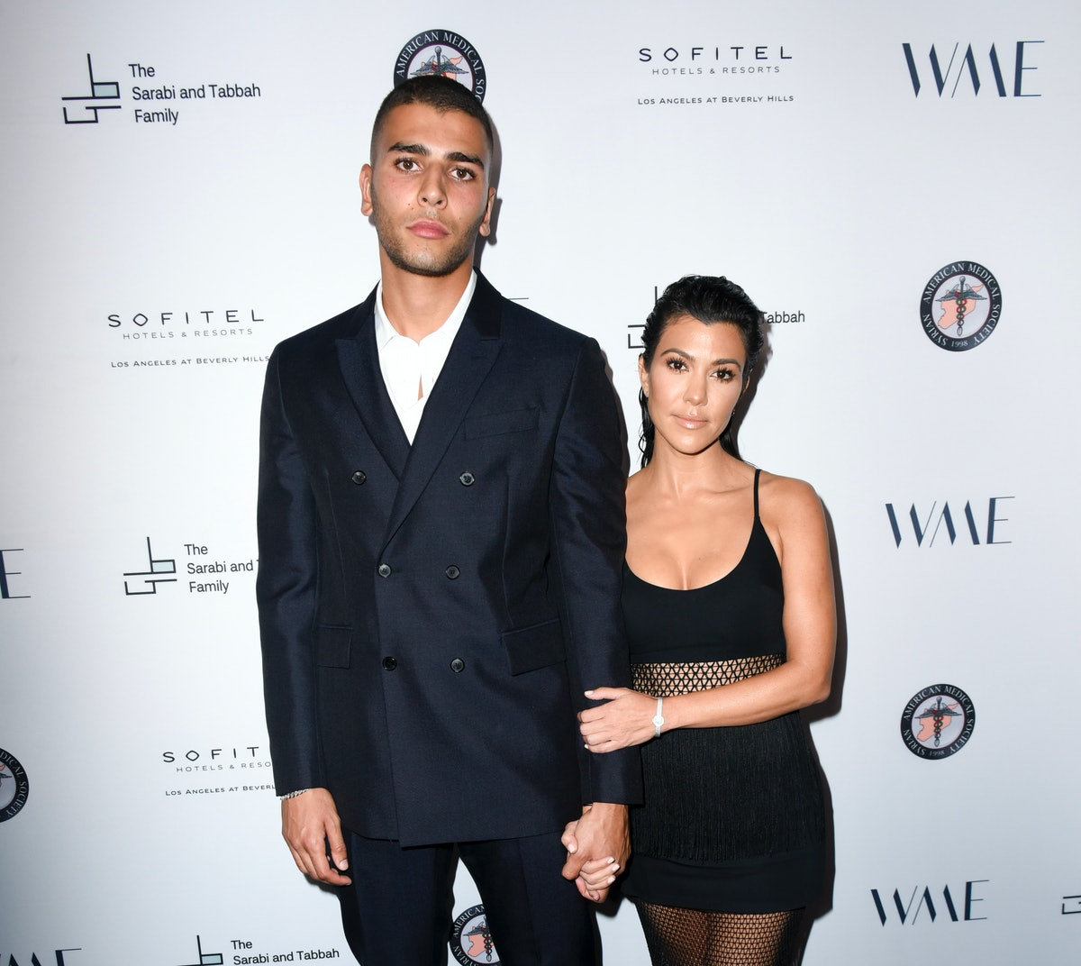 BEVERLY HILLS, CA - MAY 04:  Younes Bendjima and Kourtney Kardashian attend SAMS Benefit for Syrian Refugees on May 4, 2018 in Beverly Hills, California.  (Photo by Vivien Killilea/Getty Images for The Syrian American Medical Society (SAMS))