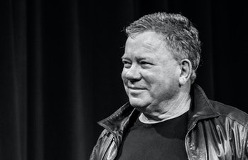NEW YORK, NY - SEPTEMBER 04:  (EDITORS NOTE: Image has been converted to black and white.) Actor William Shatner attends 'Star Trek Mission: New York' at The Jacob K. Javits Convention Center on September 4, 2016 in New York City.  (Photo by Noam Galai/WireImage)