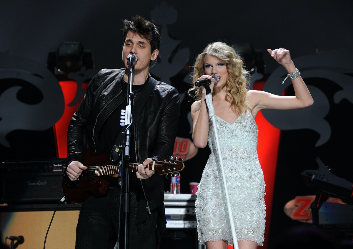 John Mayer and Taylor Swift hit the stage.