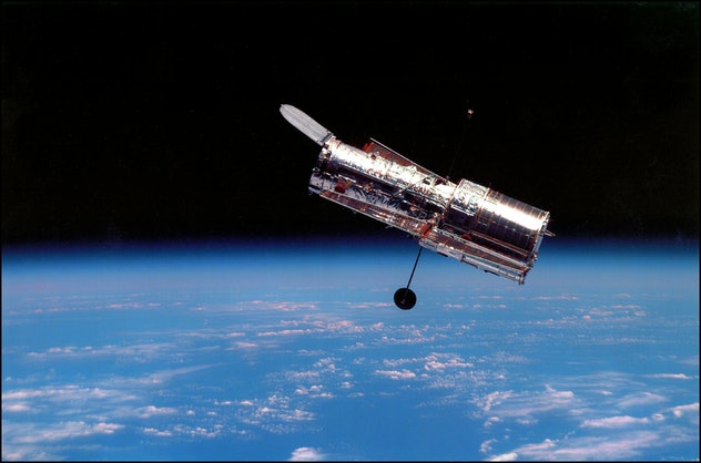 'Spaced Out' uses images from the Hubble Space Telescope to teach kids about space.