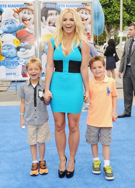 Britney Spears shared a rare photo on Instagram with her sons.