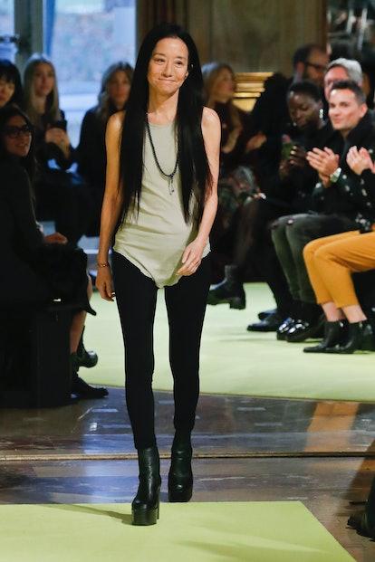 Vera Wang at her New York Fashion Week runway show.