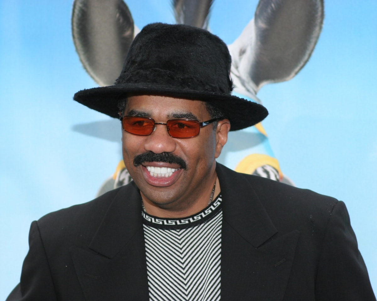 Steve Harvey at the premiere of 'Racing Stripes' at Grauman's Chinese Theatre in Hollywood, CA. (Photo by Mike FANOUS/Gamma-Rapho via Getty Images)
