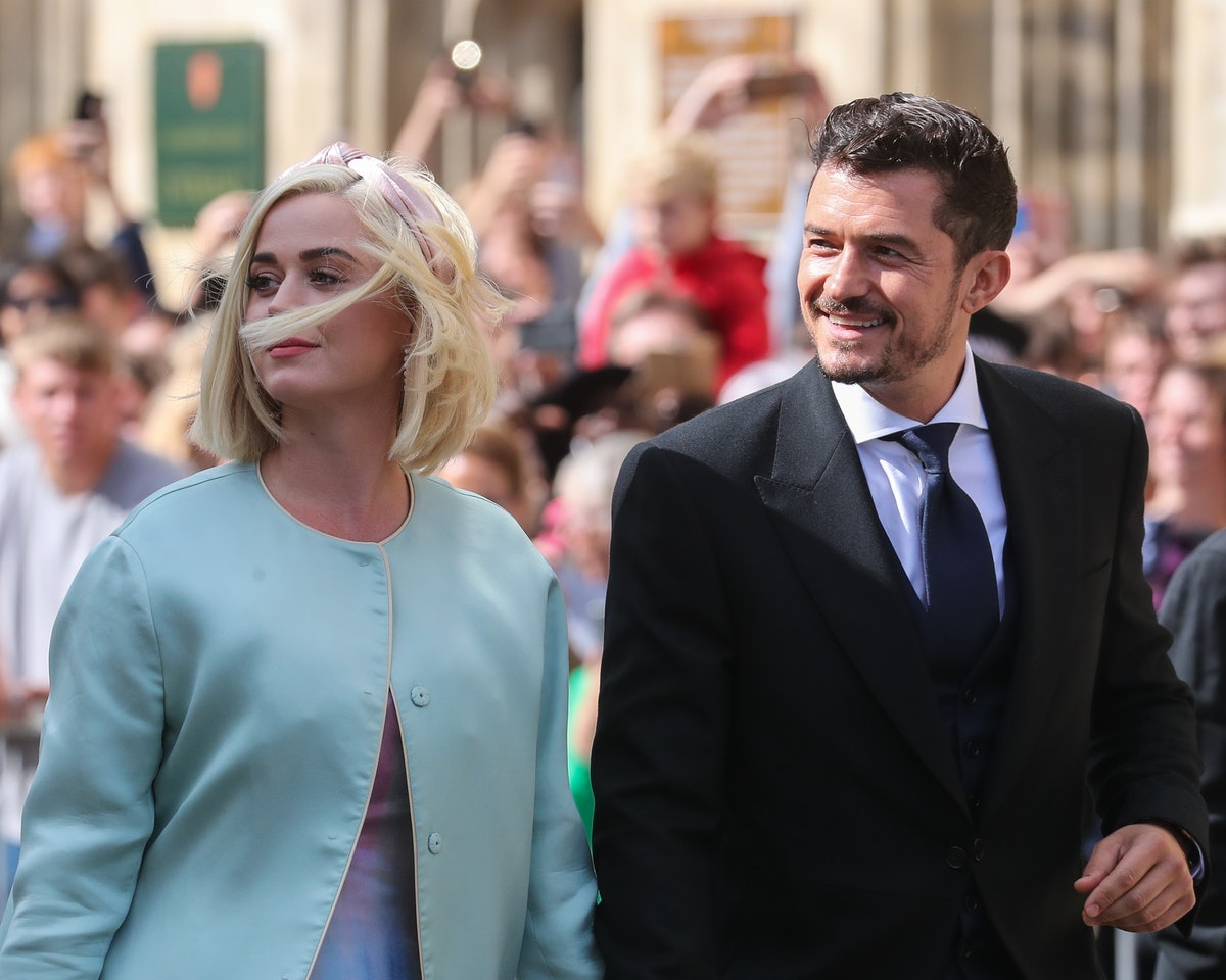 YORK, ENGLAND - AUGUST 31: Katy Perry and Orlando Bloom seen at the wedding of Ellie Goulding and Ca...
