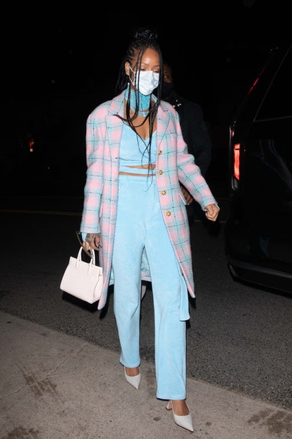 LOS ANGELES, CA - MARCH 19:  Rihanna arrives at Giorgio Baldi on March 19, 2021 in Los Angeles, California. (Photo by iamKevinWong.com/MEGA/GC Images)