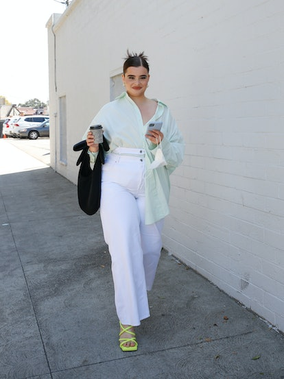 LOS ANGELES, CALIFORNIA - MARCH 18: Barbie Ferreira spotted out and about grabbing coffee on March 18, 2021 in Los Angeles, California. (Photo by Rachel Murray/WireImage)