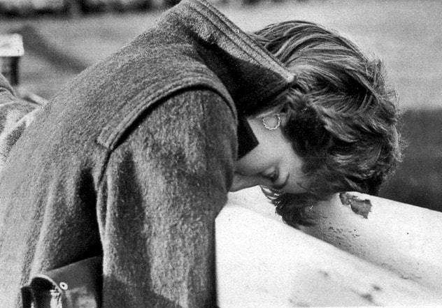 Diana Spencer having a bad day in 1980.
