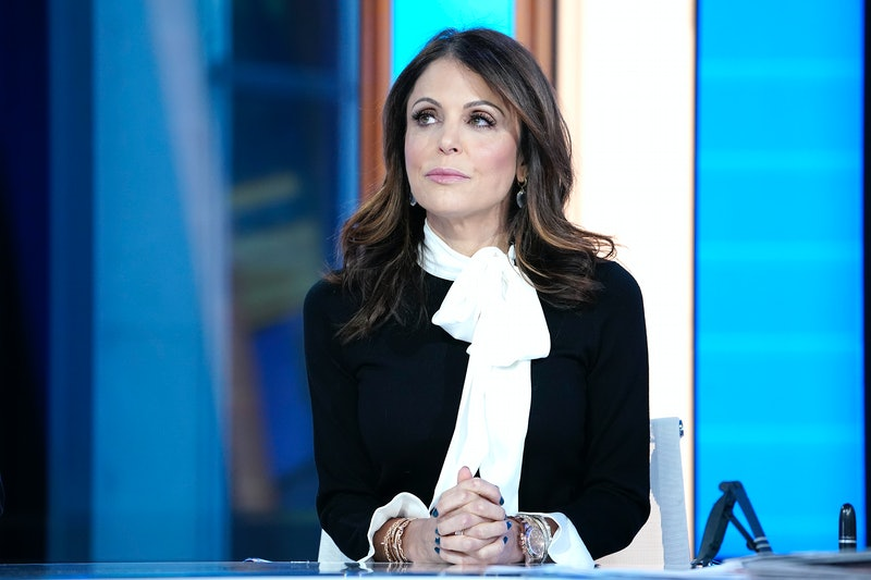 "NEW YORK, NEW YORK - JANUARY 09: Fox anchor Maria Bartiromo interview Bethenny Frankel (L) during' ""Mornings With Maria"" at Fox Business Network Studios on January 09, 2020 in New York City. (Photo by John Lamparski/Getty Images)"