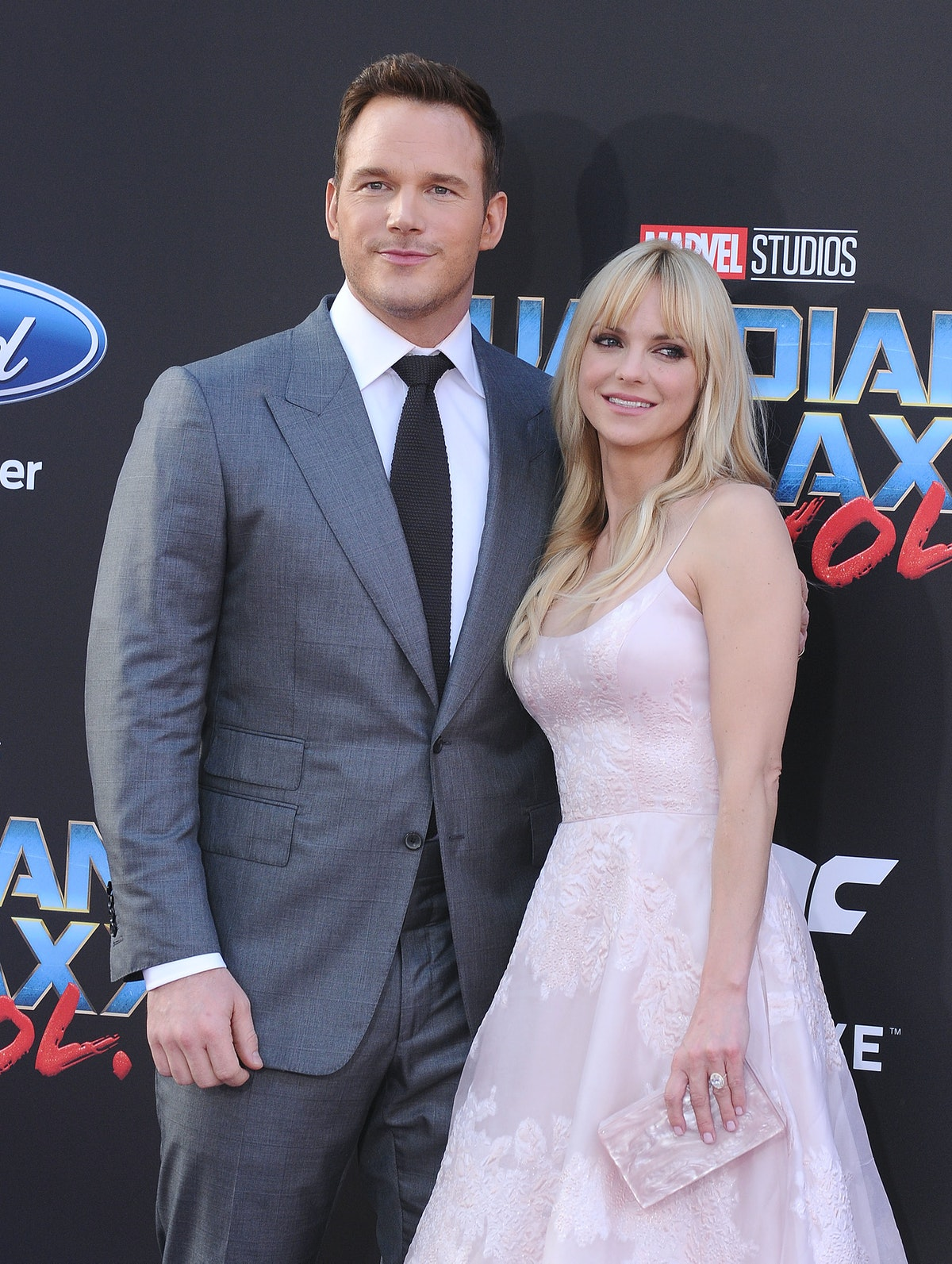 """HOLLYWOOD, CA - APRIL 19:  Actor Chris Pratt and actress Anna Faris attend the premiere of """"Guardians of the Galaxy Vol. 2"""" at Dolby Theatre on April 19, 2017 in Hollywood, California.  (Photo by Jason LaVeris/FilmMagic)"""