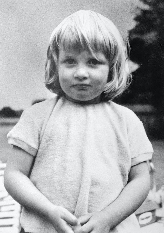 Diana Spencer as a little girl.