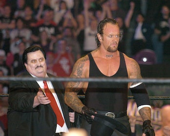 Paul Bearer and Undertaker during Wrestle Mania XX at Madison Square Garden in New York City, New Yo...