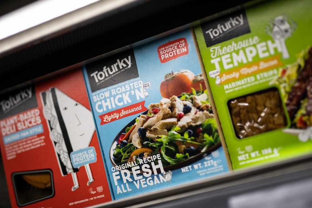 "LONDON, ENGLAND - JANUARY 03: Packets of meat-free vegan ""Tofurky"" is displayed in a branch of the Planet Organic healthfood store on January 03, 2020 in London, England. Veganuary, a campaign launched in the UK in 2014, encourages people to ""try vegan for January and beyond."" The campaign organizers said that more than 250,000 people pledged to go Vegan last year, up from 160,000 the year before. Veganism and vegetarianism are on the rise in the UK, with consumers citing a variety of reasons, from personal health to environmental concerns. (Photo by Leon Neal/Getty Images)"