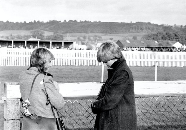 Diana Spencer with Camilla Parker-Bowles in 1980.