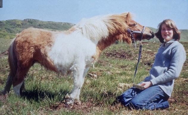 Princess Diana with her pony.