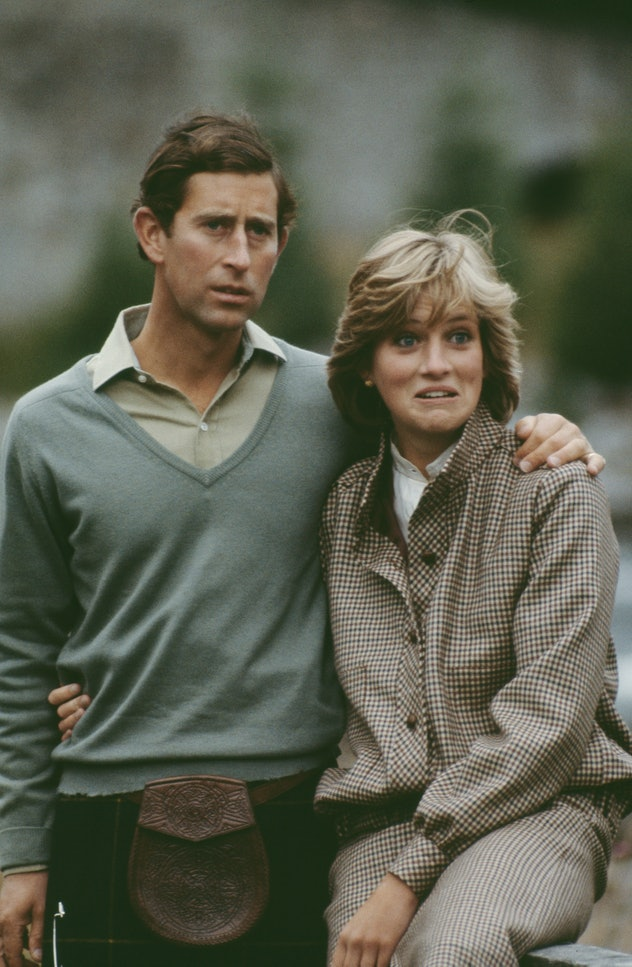 Diana Spencer goofing around with the future king.