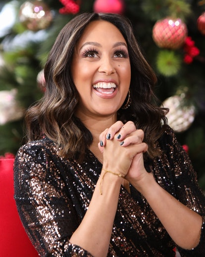 """UNIVERSAL CITY, CALIFORNIA - DECEMBER 07: Actress Tamera Mowry-Housley visits Hallmark Channel's """"Home & Family"""" at Universal Studios Hollywood on December 07, 2020 in Universal City, California. (Photo by Paul Archuleta/Getty Images)"""