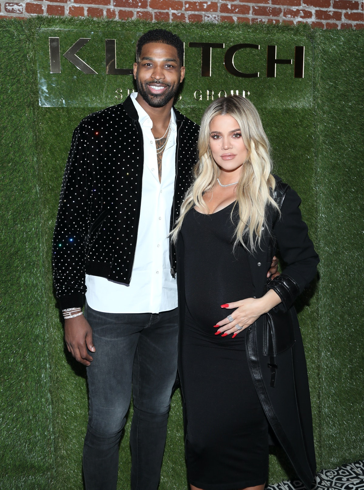 LOS ANGELES, CA - FEBRUARY 17:  Tristan Thompson and Khloe Kardashian attend the Klutch Sports Group...