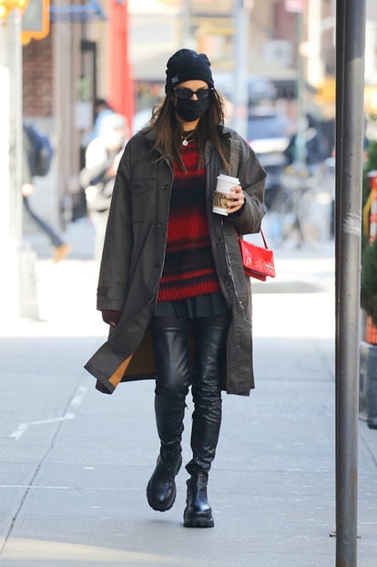 NEW YORK - MARCH 10:  Irina Shayk is seen on March 10, 2021 in New York City. (Photo by MEGA/GC Images)