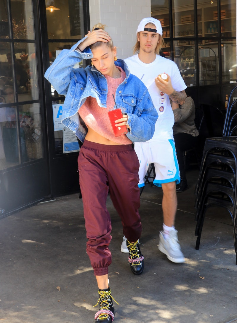 LOS ANGELES, CA - OCTOBER 15: Hailey Baldwin and Justin Bieber are seen on October 15, 2018 in Los Angeles, California.  (Photo by BG015/Bauer-Griffin/GC Images)