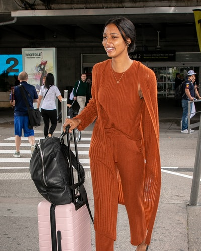 NICE, FRANCE - MAY 23: Model Jasmine Tookes arrives ahead the 72nd annual Cannes Film Festival at Nice Airport on May 23, 2019 in Nice, France. (Photo by Marc Piasecki/GC Images)