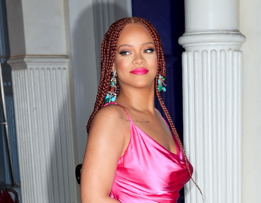 NEW YORK, NY - JUNE 18:  Rihanna wears a hot pink dress when arriving at a Fenty event on June 18, 2019 in New York City.  (Photo by Gotham/GC Images)
