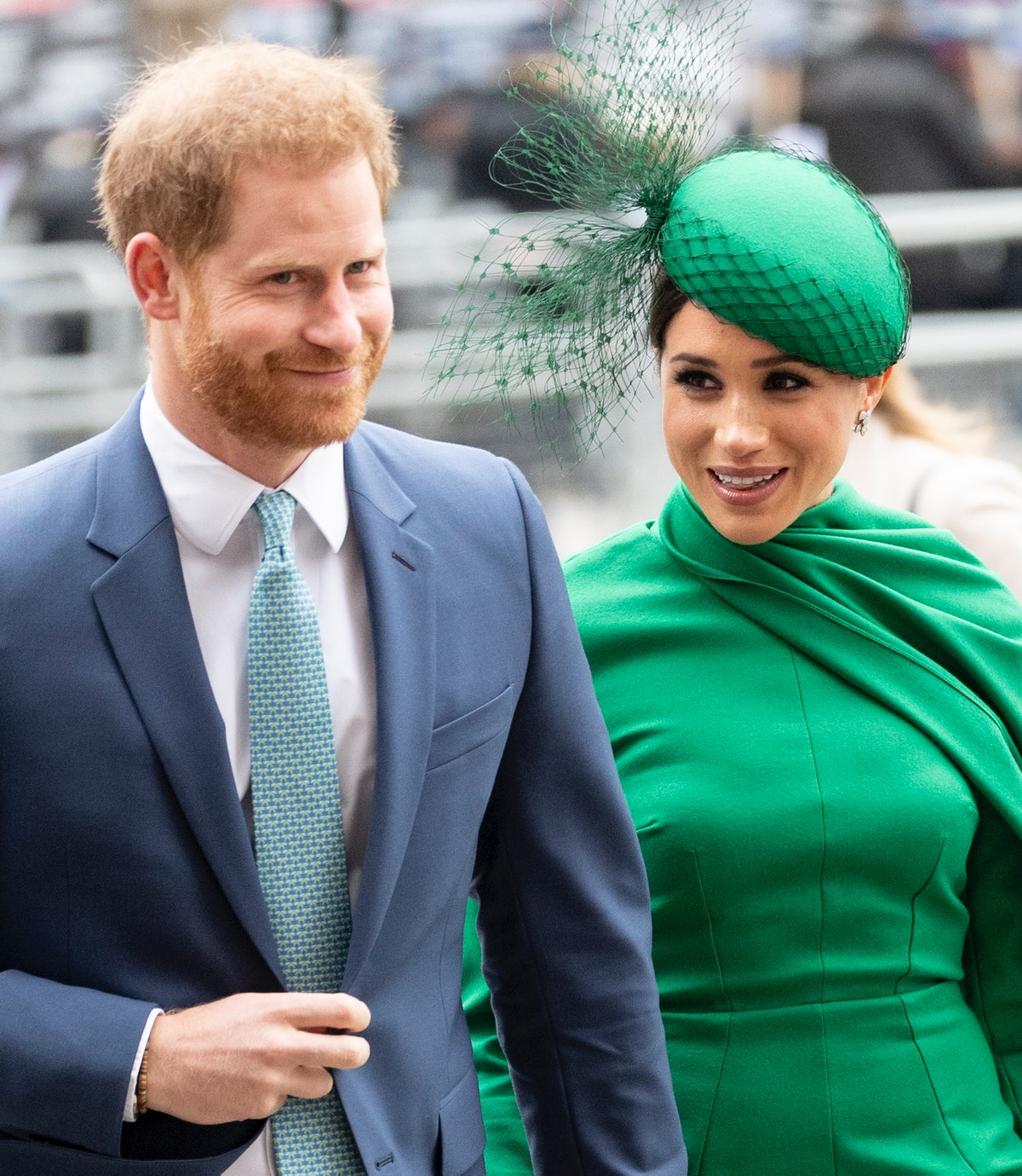LONDON, ENGLAND - MARCH 09: Prince Harry, Duke of Sussex and Meghan, Duchess of Sussex attend the Commonwealth Day Service 2020 at Westminster Abbey on March 9, 2020 in London, England. (Photo by Mark Cuthbert/UK Press via Getty Images)
